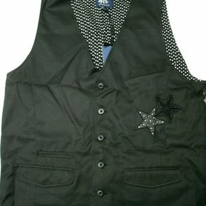 Authentic Icon American Idol Vest Black Stars XL